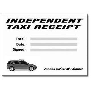 Mini-Cab, Hackney and Independent Taxi Receipt Pads (50 Receipts Per Pad) - Taxi-Mart Shop