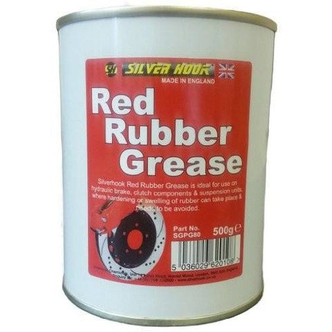 Silverhook Red Rubber Grease 500g Tin - Free Tracked Delivery - Taxi-Mart Shop