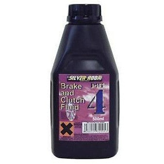 Silverhook Dot 4 Brake & Clutch Fluid - 500ml Bottle - Free Tracked Delivery - Taxi-Mart Shop