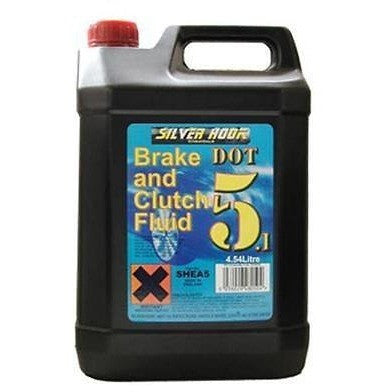 Silverhook DOT 5.1 Brake And Clutch Fluid - 4.54 Litre - Free Tracked Delivery - Taxi-Mart Shop