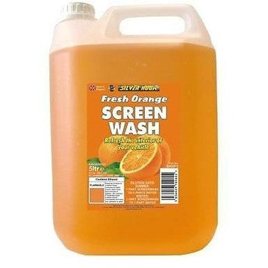 Silverhook Fresh Orange Fragranced Screen Wash 5 Litres - Tracked Delivery - Taxi-Mart Shop