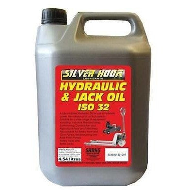 Silverhook SHRH5 ISO 32 Hydraulic Oil For Trolley Jacks/Compressors 4.54 Litres - Taxi-Mart Shop