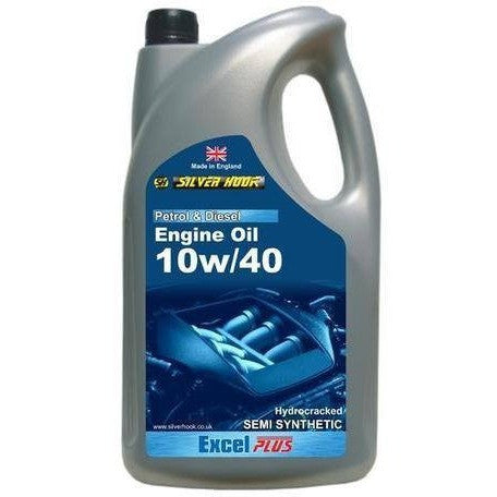 Silverhook 10w/40 Excel Semi Synthetic Engine Oil High Performance SL/CF 4.54L - Taxi-Mart Shop