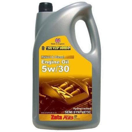 Silverhook 5w/30 Zeta Plus Semi Synthetic Multigrade Engine Oil SN/CF 4.54 Litres - Taxi-Mart Shop