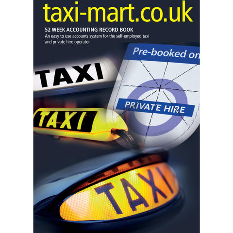 The ALL NEW! Taxi Driver Minicab Driver Weekly Accounts Book - Taxi-Mart Shop