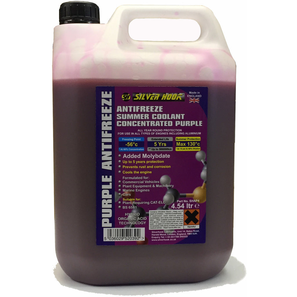 Silverhook Purple Concentrated Antifreeze/Summer Coolant [HOAT] 4.54 Litres - Taxi-Mart Shop