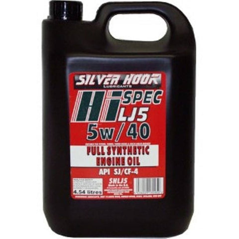 Silverhook 5w/40 Edge Fully Synthetic High Performance Multigrade Oil SL/CF 4.54 Litres - Taxi-Mart Shop
