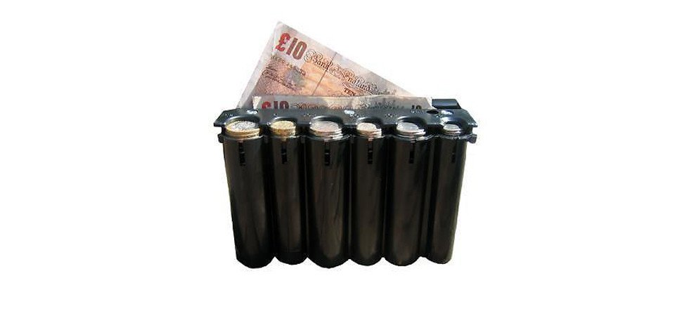 Large Black Coin Holder