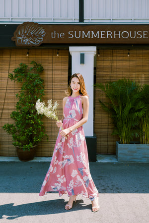 *TSA Label* Kyloe Floral Maxi Dress In Dusty Pink