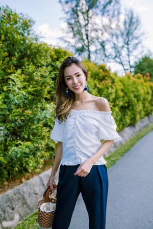 Effie Off Shoulder Top In White