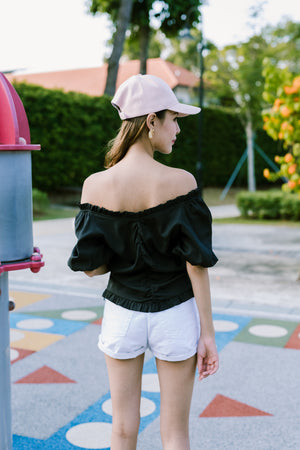 Effie Off Shoulder Top In Black