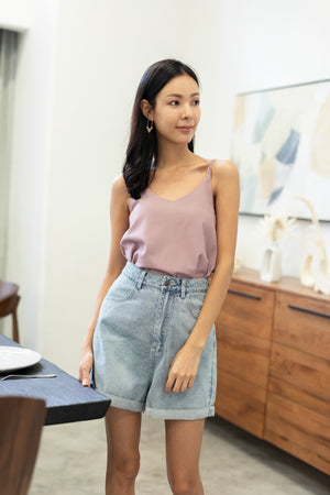 Nayla Two-Way Top In Mauve