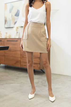 Dariana Pocket Skorts In Khaki