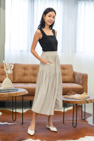Melody Midi Skirt In Ecru
