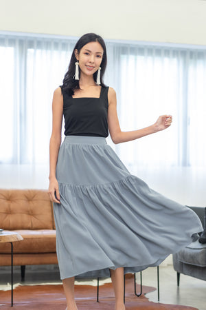 Melody Midi Skirt In Sky Blue