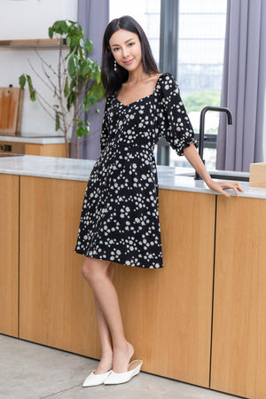 Chiara Daisy Dress In Black
