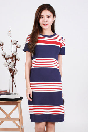 Nellie Knit Dress In Navy