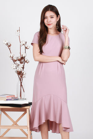 Whitney Mermaid Hem Midi In Pink