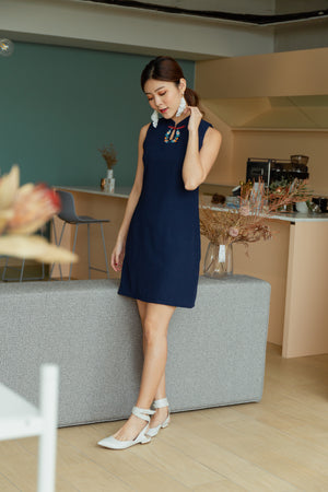 Season of Spring Cheongsum In Navy