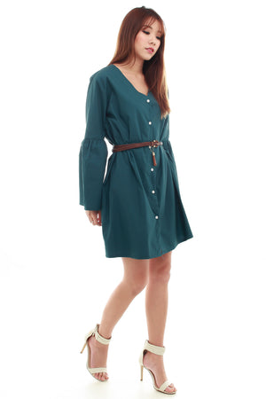 Eliza Shirt Dress In Forest
