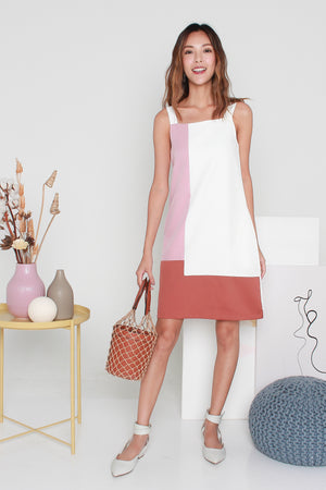 Camillia Colourblock Dress In Pink