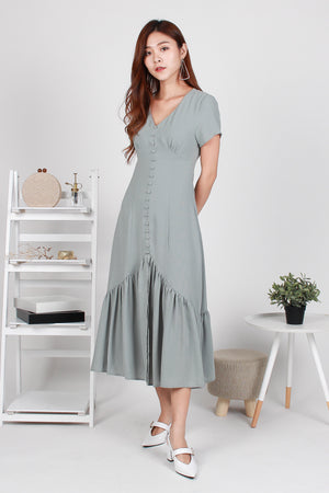 *TSA Exclusive* Willa Mermaid Midi Dress In Sage