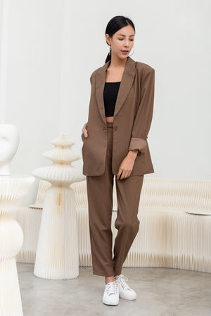 Hilda Oversized Blazer In Coffee