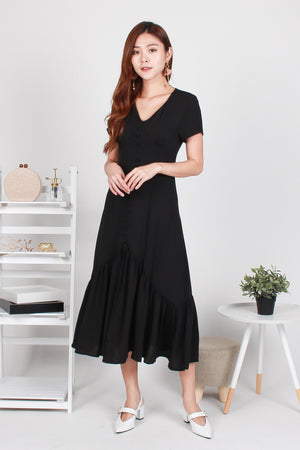*TSA Exclusive* Willa Mermaid Midi Dress In Black