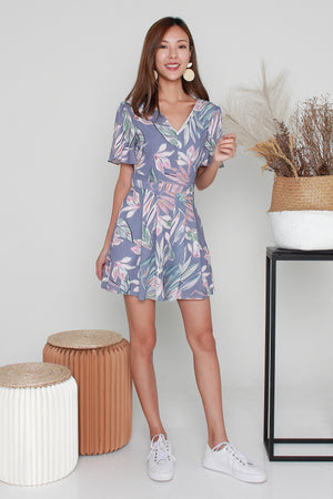 *RESTOCK* Vania Floral Romper In Parisian Purple