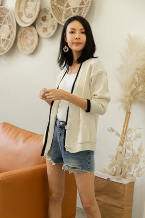 *BACKORDER* Claire Knit Cardigan In White
