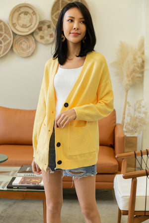 *BACKORDER* Claire Knit Cardigan In Yellow
