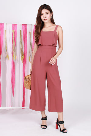Natasha Layered Jumpsuit In Tea Rose