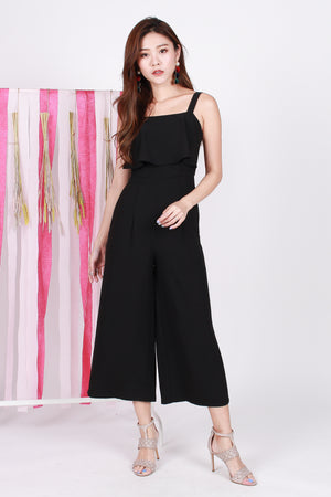 Natasha Layered Jumpsuit In Black