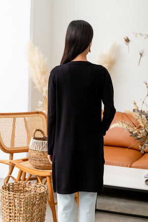 Faustine Knit Cardigan In Black