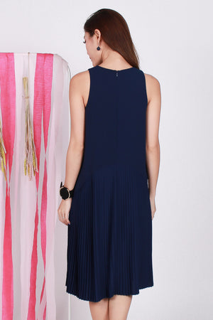*TSA Label* Rayner Pleated Midi In Navy