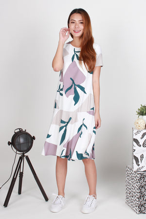 Charlotte Abstract Mermaid Dress In Green
