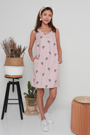 Cady Cactus Shift Dress In Pink