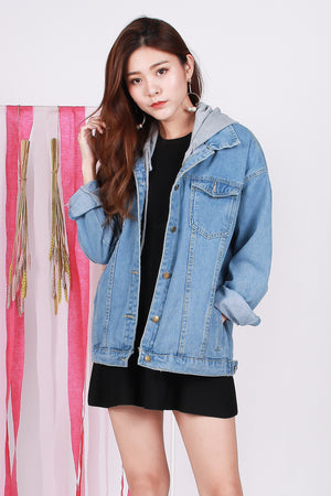 Addie Oversized Hoodie Denim Jacket
