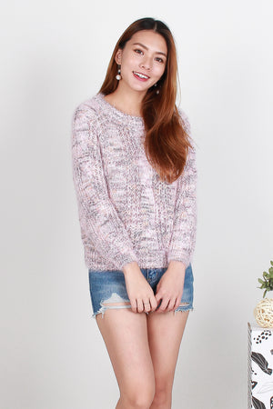 Vivi Knit Pullover In Pink