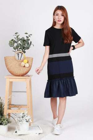 *BACKORDER* Ginna Drophem Dress In Black