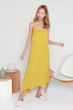 Nerrie Cageback Dress In Mustard