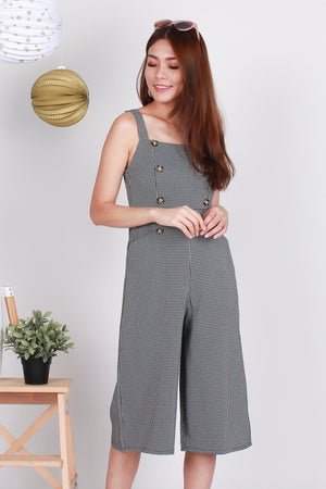 Locco Checkered Jumpsuit In Black