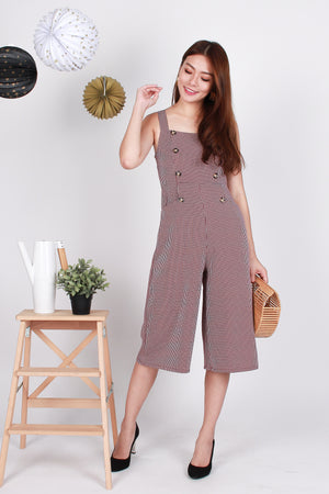 Locco Checkered Jumpsuit In Red