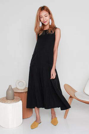 *TSA Label* Kadeen Tiered Maxi Dress In Black