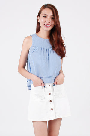 Nixon Denim Skirt In White