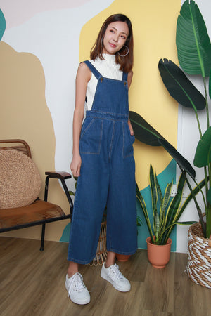 Jamie Denim Dungaree In Dark Wash