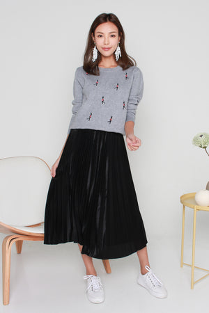 *BACKORDER* Shania Pleated Skirt In Black