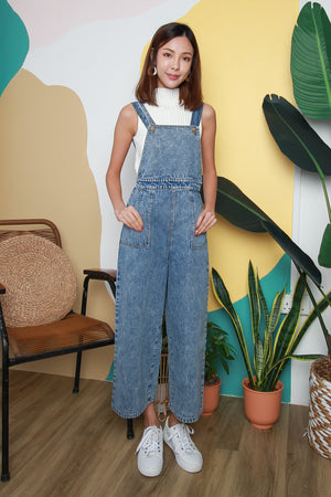 *RESTOCK* Jamie Denim Dungaree In Acid Wash