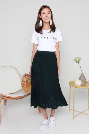 *RESTOCK* Shania Pleated Skirt In Forest