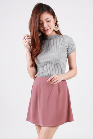 Lintt Sliced-Up Skorts In Dusty Pink